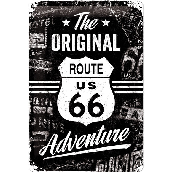 Route 66 - The Original Adventure Metallschild 20x30cm