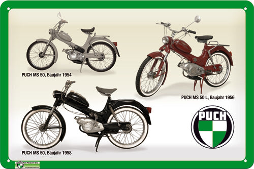 Puch MS 50 Moped - Stanglpuch - Metallschild 20x30cm