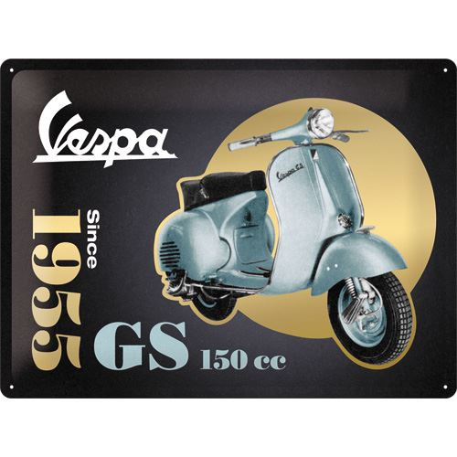 Vespa GS 150 CC - Gold Edition - Metallschild 30x40cm