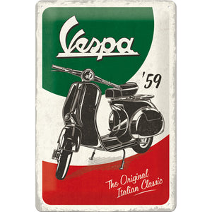 Vespa 59 The Original Italian Classic Metallschild 20x30cm
