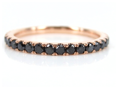 Black Diamond Eternity Band set in 18k Rose Gold - 0.82 cts