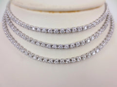 34 inches Diamond Tennis Necklace - 18K White Gold - 8.66cts T.W