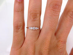 Seven-Stones Graduated Round Diamond Ring - 18K Rose Gold