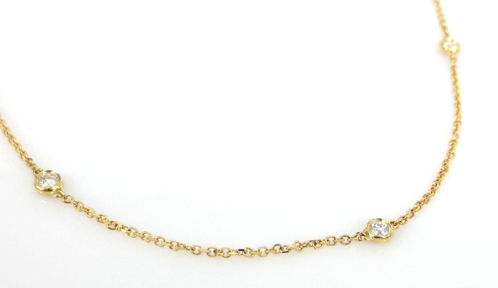 Diamond By The Yard Necklace - 18K YG - 0.64cts T.W