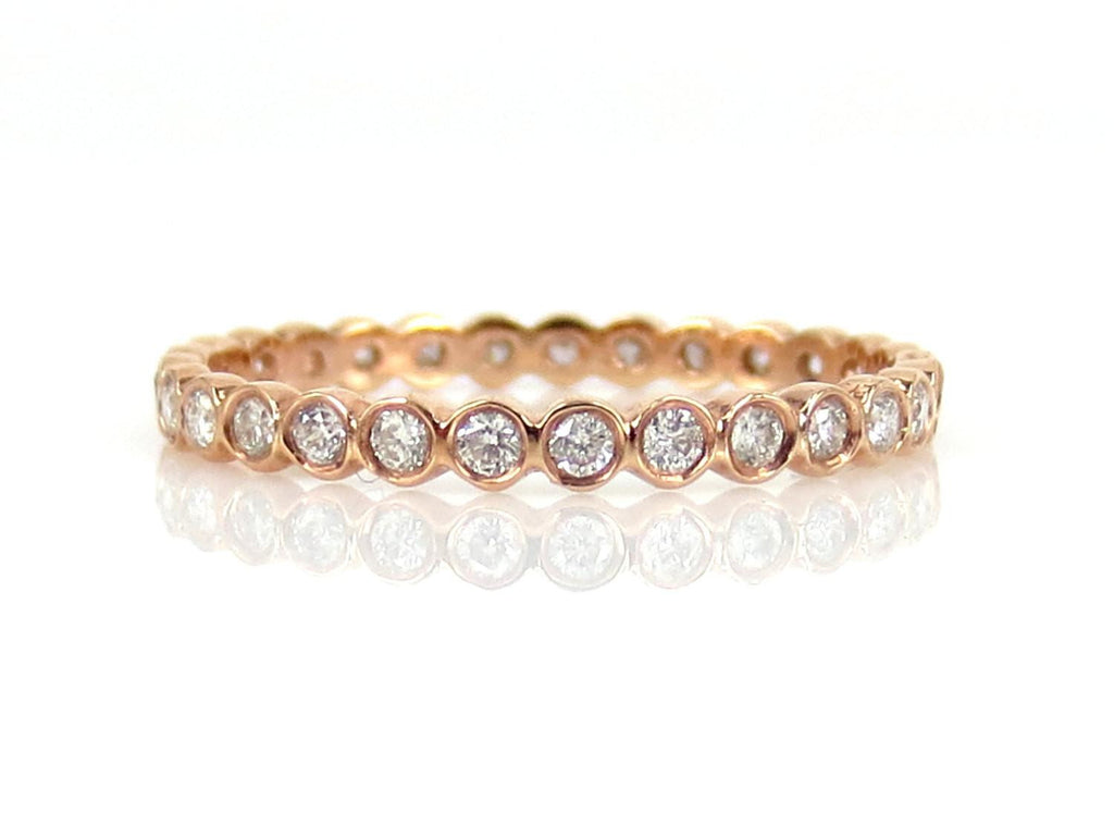 Bezel Set Round Diamond Eternity Band - 0.39 cts T.W