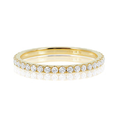 18K White Gold Diamond Eternity Band - 1.5mm