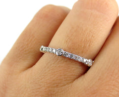Pave & Bezel set Diamond Eternity band - 0.62 cts T.W