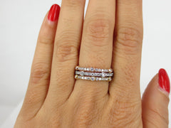 Set of 3:  Pave & Bezel set Diamond Eternity Bands -1.86 cts T.W