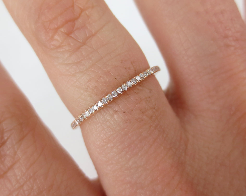rolling gold diamonds itm totalling this rows round each in eternity set band cut setting diamond micro consists carat pave bands r wedding carats a ring amazing brilliant of rose