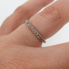 Fancy Champagne Diamond Half-Eternity Band - 18K White Gold