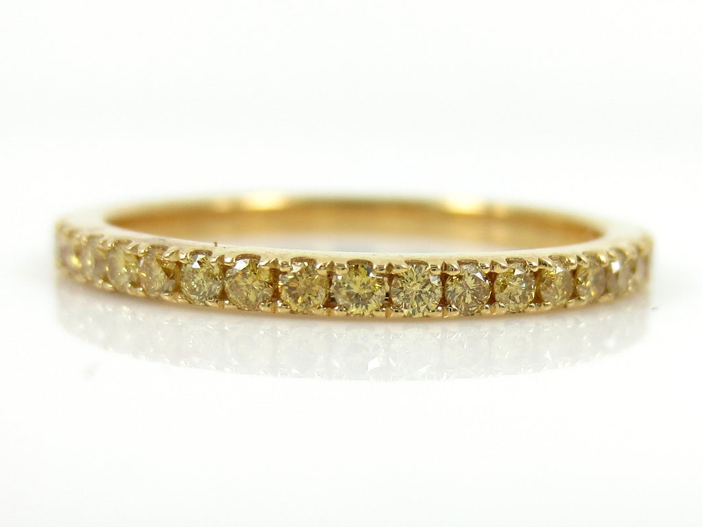1.6mm Fancy Yellow Diamond Pave Eternity Band - 0.50cts