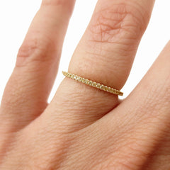 18K Yellow Gold Yellow Sapphire Eternity Band -1.3mm