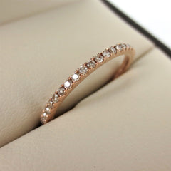 Champagne Diamond Eternity Band - 18K Rose Gold