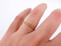 Fancy Yellow Diamond Micro Pave Half-eternity Band - 18K Gold