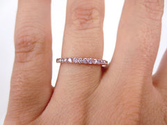 Natural Pink Diamond Eternity Band - 18K Rose Gold