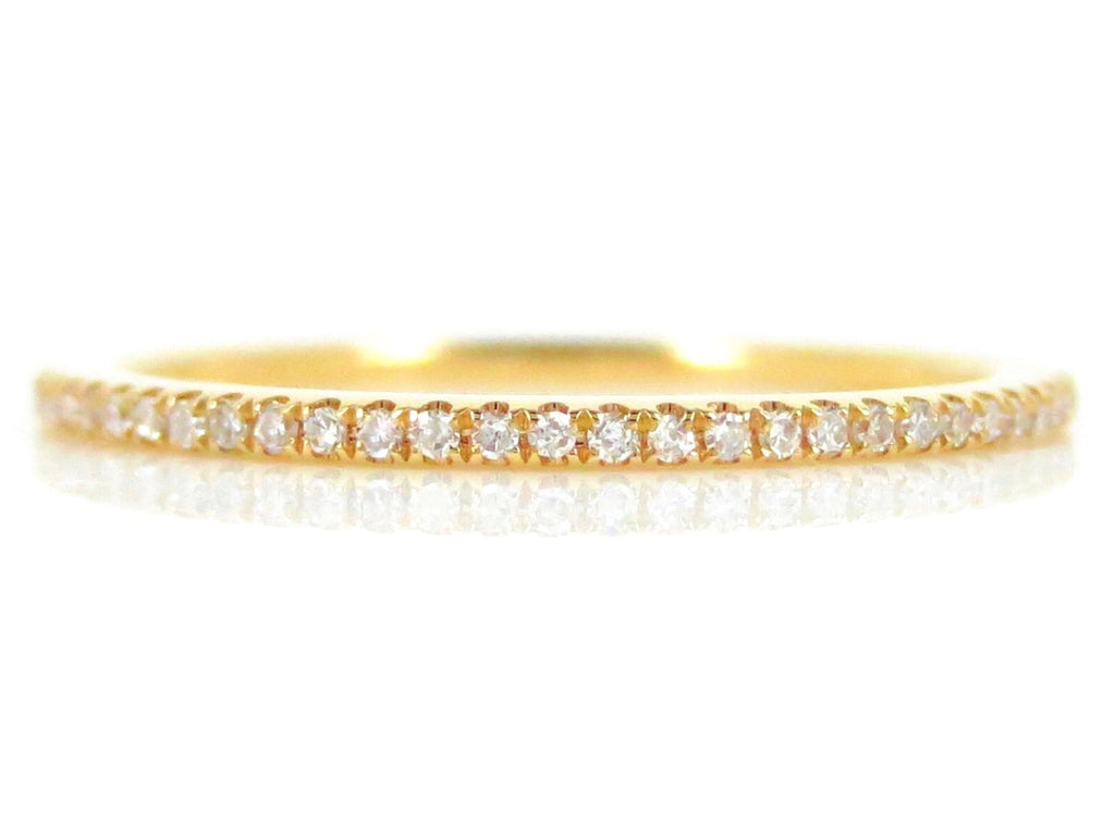 Micro Pavé Diamond Eternity Band - 18K Yellow Gold