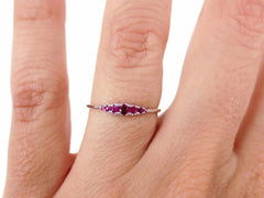 Seven-Stone Graduated Ruby Ring in 18K White Gold