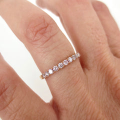 Natural Pink Diamond  Half-eternity Band - 18K Rose Gold