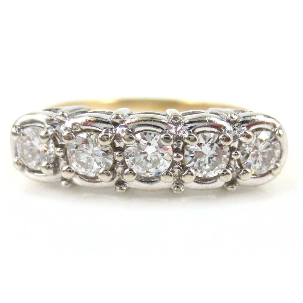 Late Victorian Five Stone Diamond Ring - 0.50cts T.W