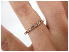 1.9mm Champagne Diamond Eternity Band - 18K Rose Gold