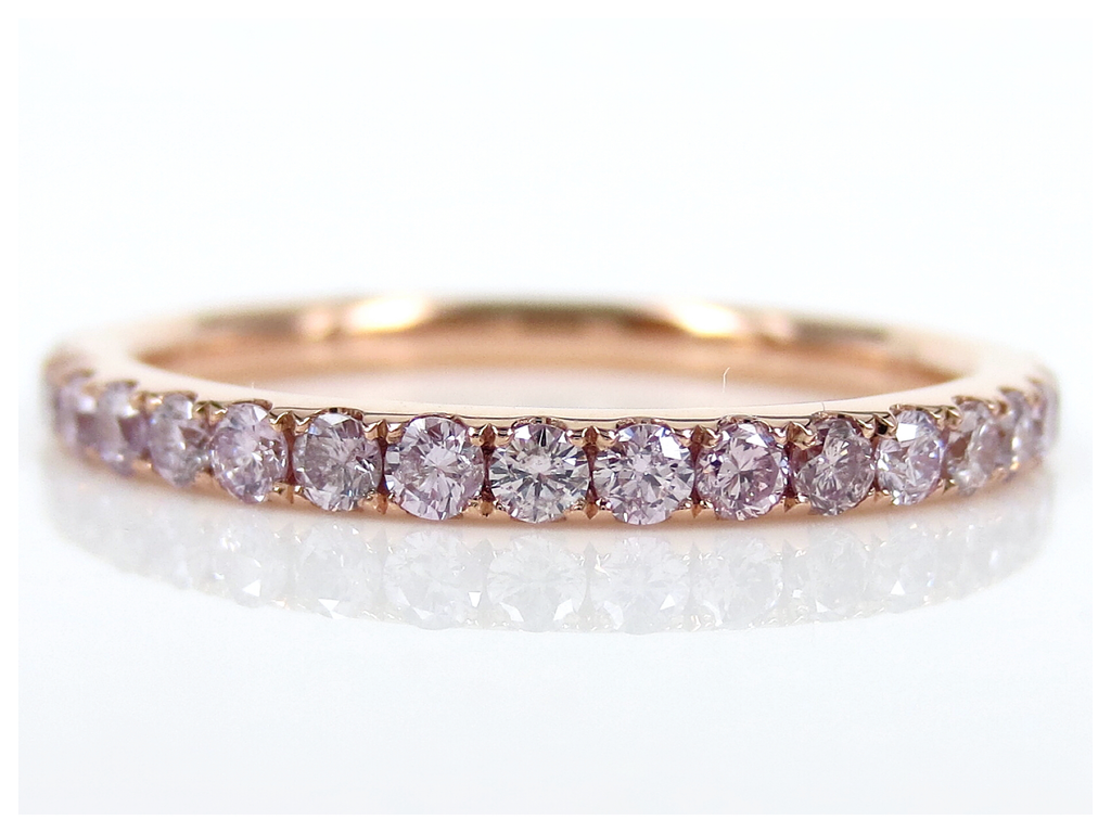 Natural Pink Diamond Micro Pave Eternity Band - 0.71carats