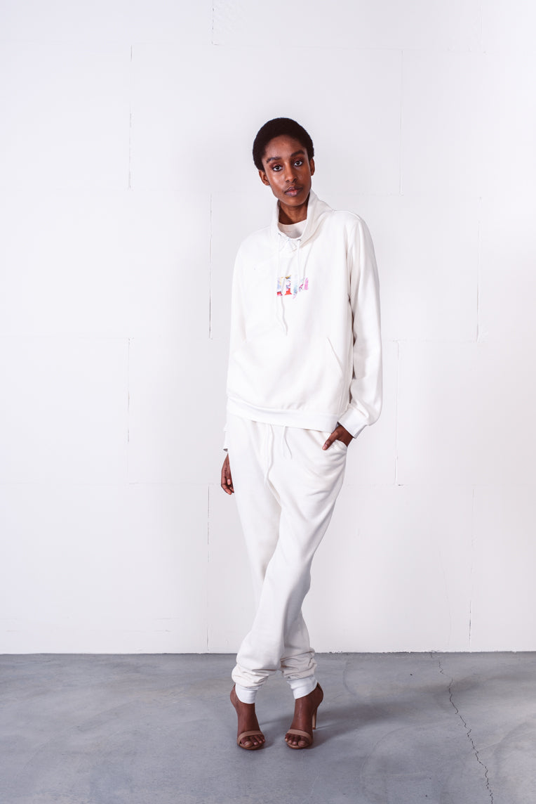 Vela sweater off white with paint logo