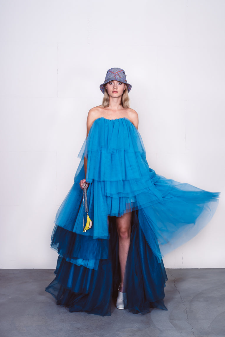 Couture dress blue
