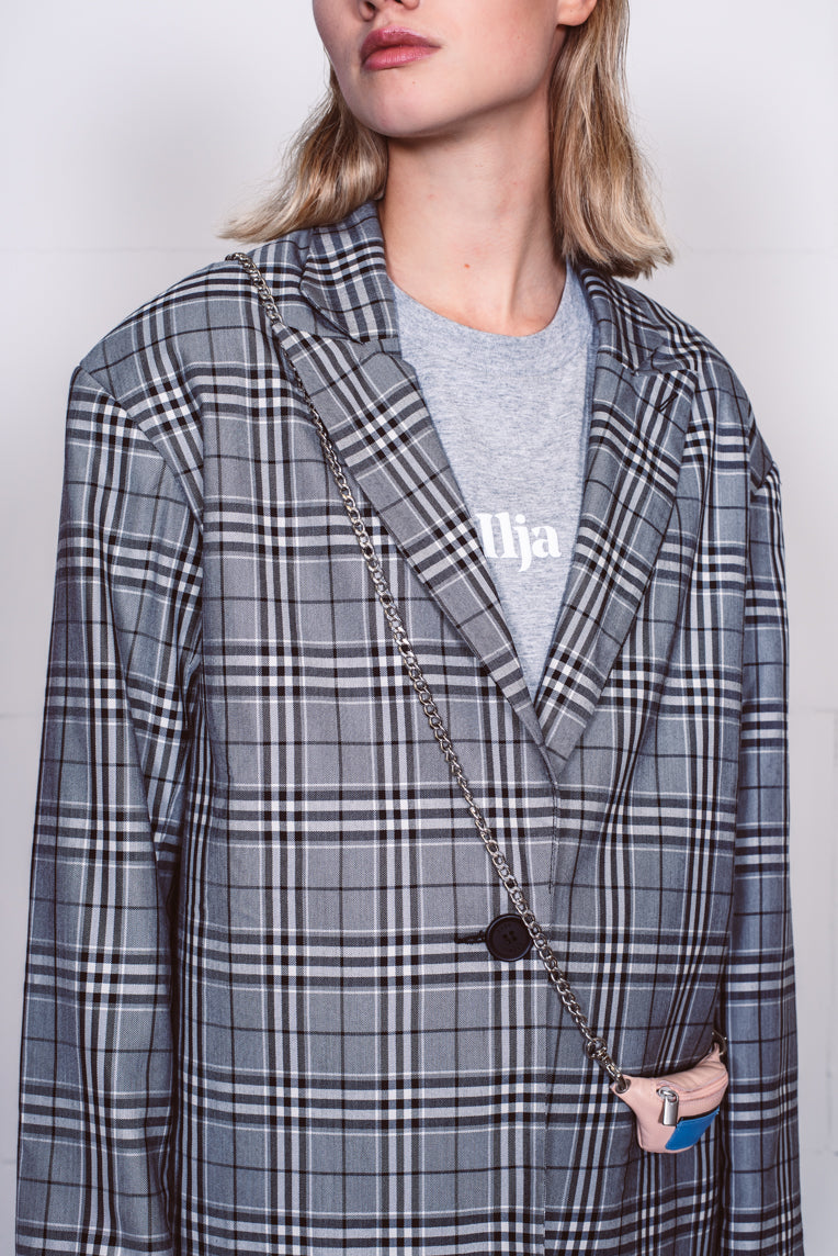 Ibiza blazer black check