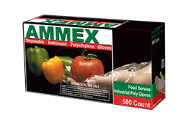AMMEX POWDER FREE POLY GLOVES 500CT-250 PAIRS - Florida Mask Supply