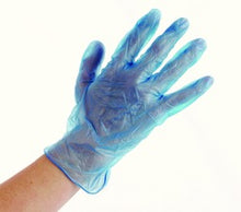 Load image into Gallery viewer, DON POWDER FREE BLUE VINYL GLOVES 100CT-50 PAIRS - Florida Mask Supply
