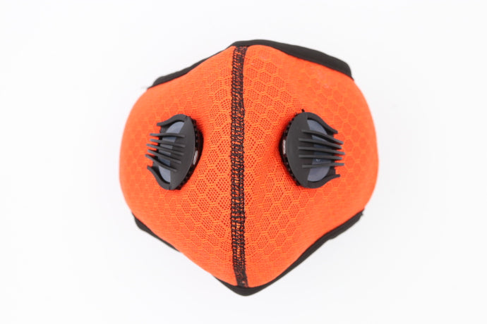 Sports Mask Orange PM2.5 Carbon Filter Mesh Wholesale Cheapest, Buy Now, In Stock, USA, Wholesaler, Distributor,