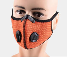 Load image into Gallery viewer, Sports Mask Orange PM2.5 Carbon Filter Mesh Wholesale Cheapest, Buy Now, In Stock, USA, Wholesaler, Distributor,