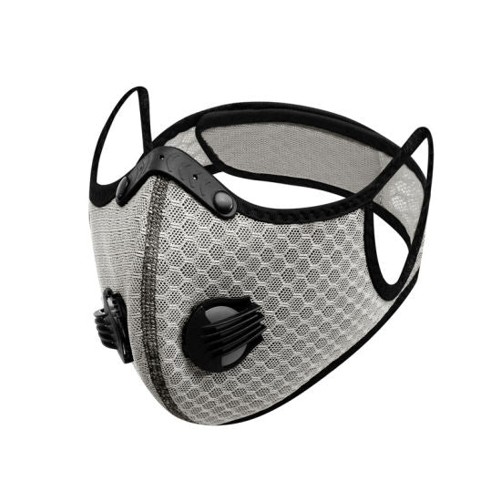 Sports Mask White PM2.5 Carbon Filter Mesh Wholesale Cheapest, Buy Now, In Stock, USA, Wholesaler, Distributor,