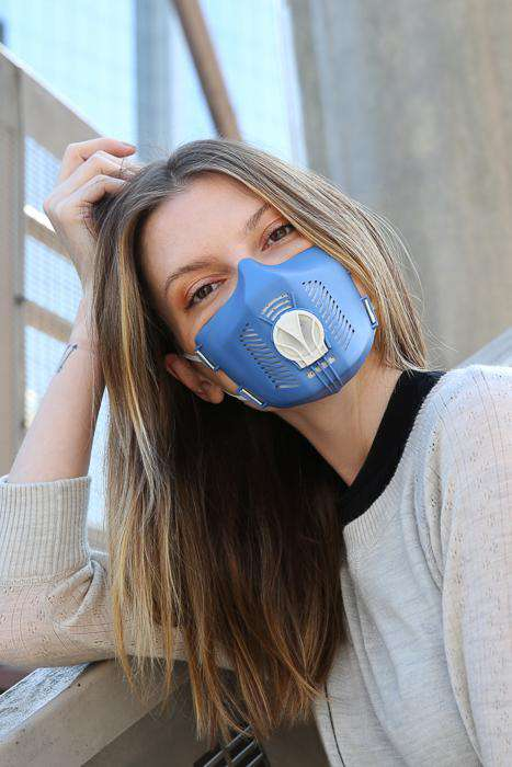 TPE mask - blue white - edition