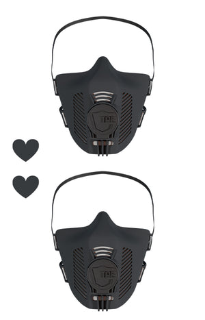 TPE Masken Set - all black + all black