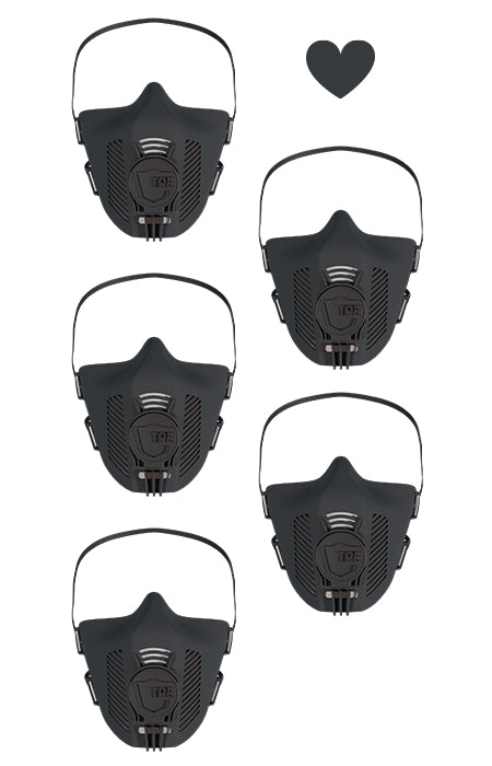 TPE Masken 5er Set - all black limited
