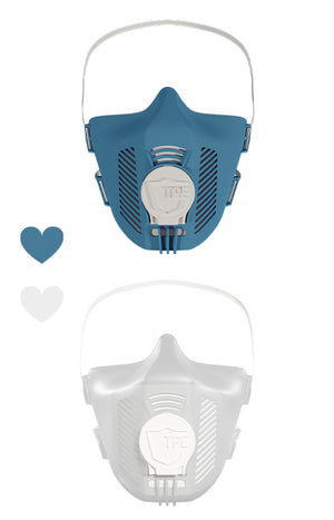 TPE mask set - blue + white