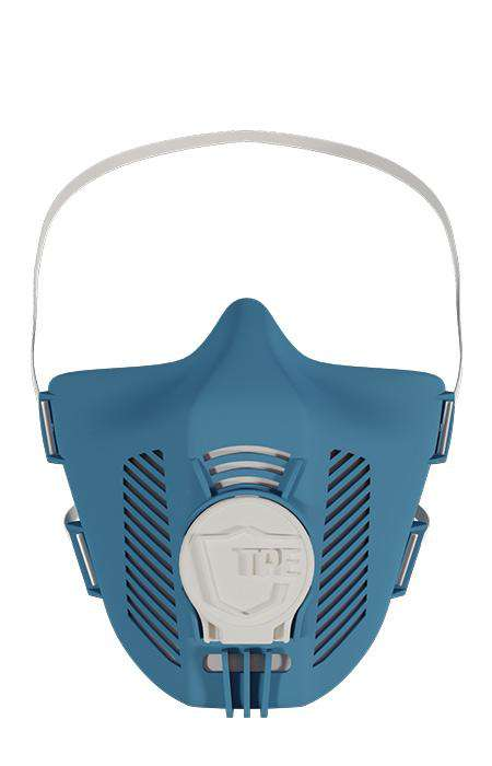 TPE Maske in Farbe blue white