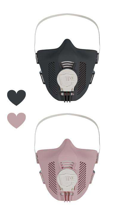 TPE Masken black + rose