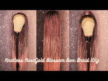 Load and play video in Gallery viewer, RoseGold Blossom Knotless Braid Wig