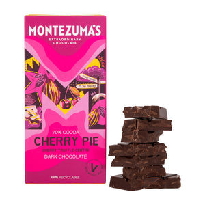 Dark chocolate with cherry centre (Montezuma's, 100gr)