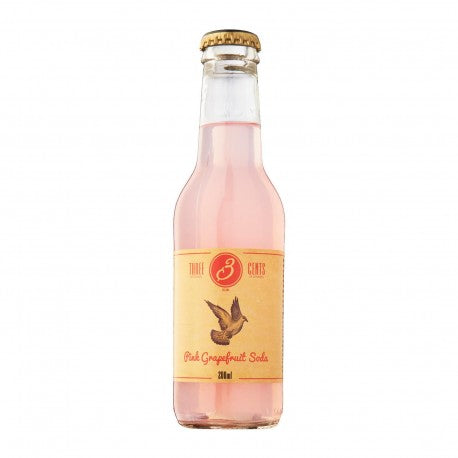 'Pink grapefruit' - bebida de pomelo rosado (Three Cents, 220ml)