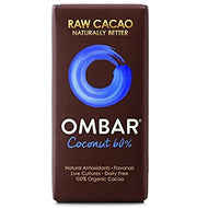 Chocolate 'raw' con 60% de coco (Ombar, 35gr)