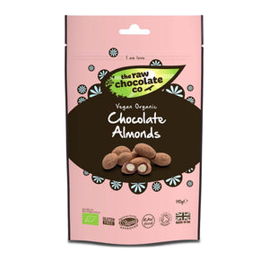 Almendras cubiertas de chocolate crudo (The Raw Chocolate Company, 110gr)