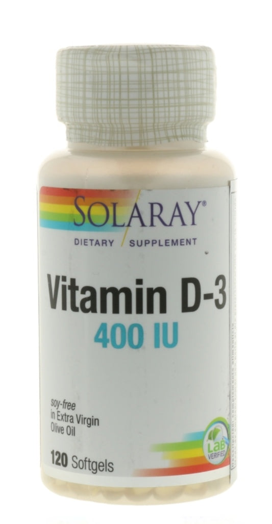 Vitamina D-3 (Solaray, 120 perlas)