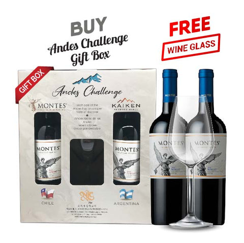 Andes Challenge Gift Pack Montes Classic Merlot Set