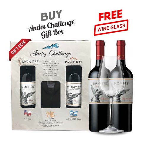 Andes Challenge Gift Pack Montes Classic Cabernet Sauvignon Set