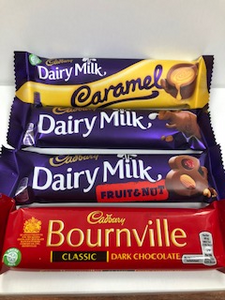 Cadbury Standard Bars various