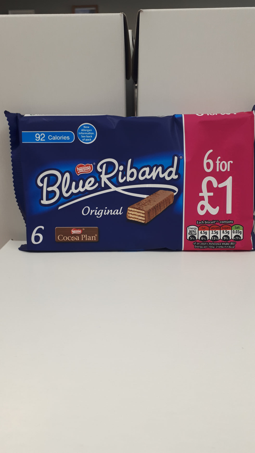 Nestle Blue Riband 6 Pack OUT OF STOCK