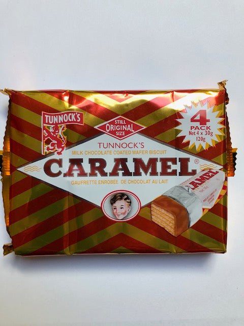Tunnocks Caramel Waffers 4pk